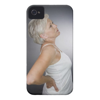 Senior woman with backache Case-Mate iPhone 4 cases