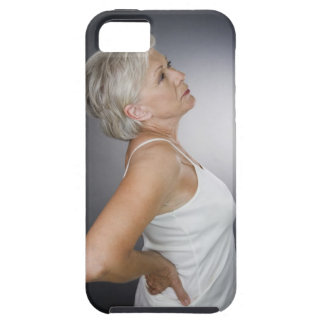Senior woman with backache iPhone 5 cases