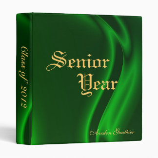Senior Year Back To School Emerald Silk Binder