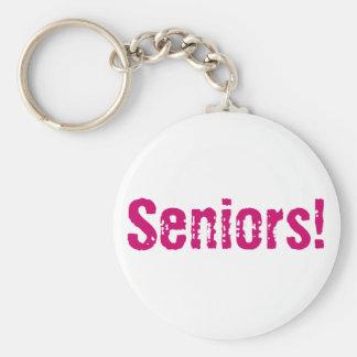 Seniors! Basic Round Button Keychain