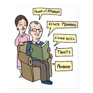 Seniors Estate Planning Research Postcard