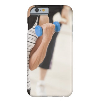 Seniors exercising with dumbbells in a health barely there iPhone 6 case