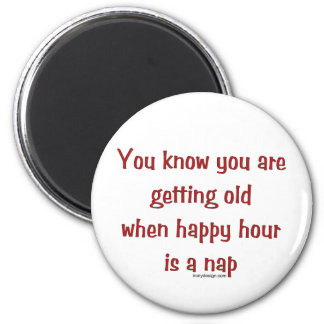 Senior's Happy Hour Magnet