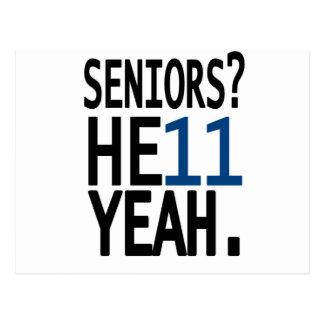 Seniors? HE11 YEAH. (Dark Blue) Postcard