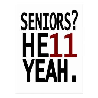 Seniors HE11 YEAH Maroon Postcard