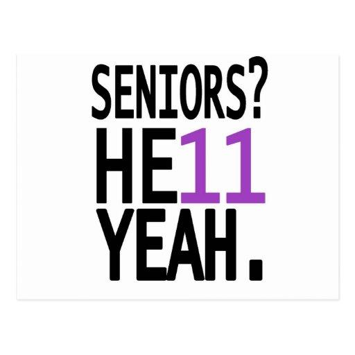 Seniors? HE11 YEAH. (Purple) Postcards