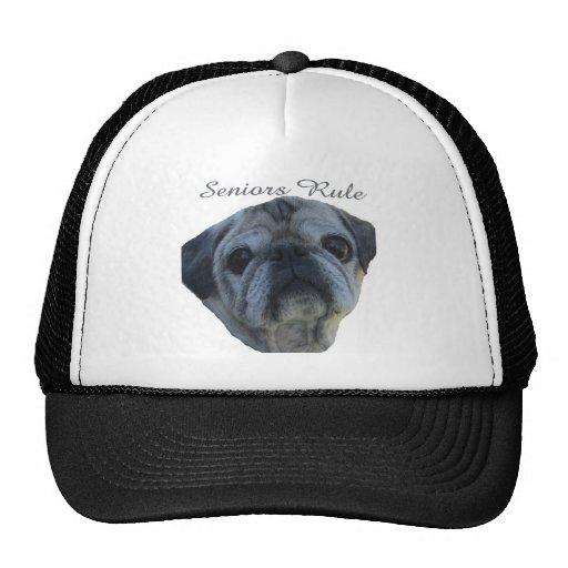 seniors rule mesh hat