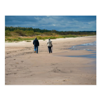 Seniors walk postcard