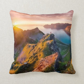 Senja Island, Noeway Throw Pillow