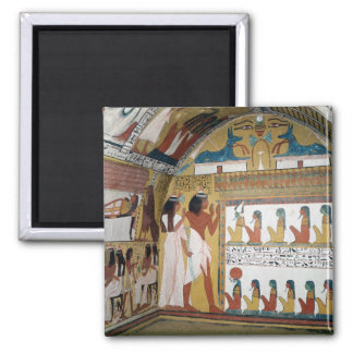 Sennedjem and his wife facing a naos magnet