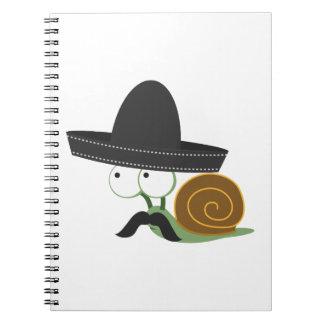 Señor Snail Spiral Note Book
