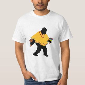 Senor Squatcho de Mayo with Poncho T-Shirt