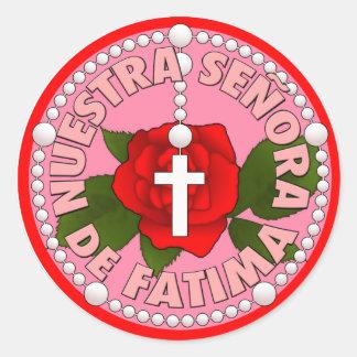 Señora de Fatima Round Sticker
