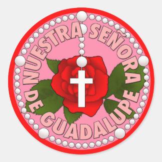 Señora de Guadalupe Classic Round Sticker