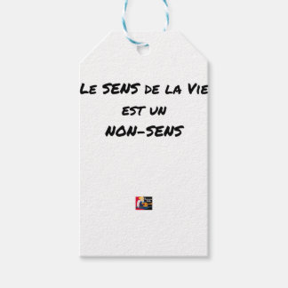 SENS OF the LIFE EAST a NONSENSE - Word games Gift Tags