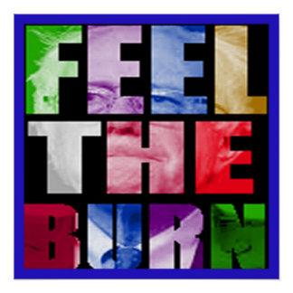 Sensation de Bernie la brûlure Perfect Poster
