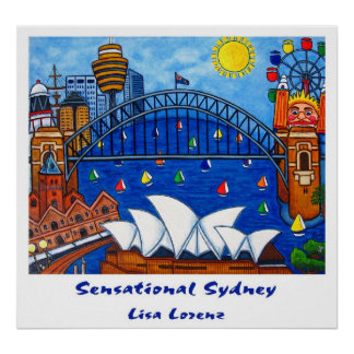 Sensational Sydney Painting Print