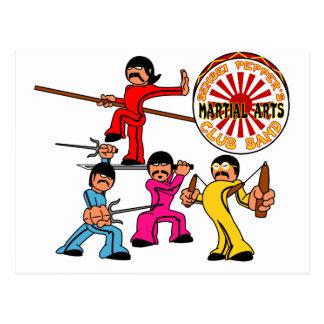 Sensei Peppers Martial Arts Club Band Postcard