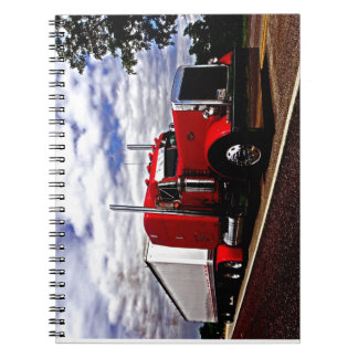 Sensenig Red Peterbilt 379 Notebook