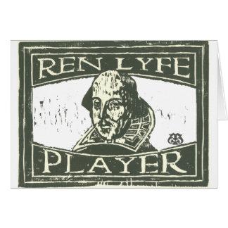 Senseshaper Woodcut: Ren Lyfe Player- Shakespeare Card