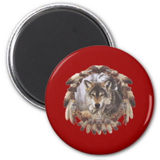 sensor of dream Wolf 2 Inch Round Magnet
