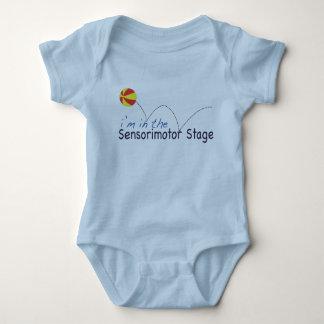 Sensorimotor stage baby bodysuit