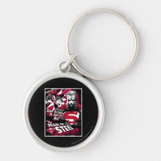 Sent To Earth To Save Us Silver-Colored Round Keychain