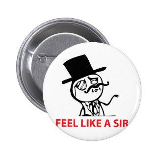 Sentez comme monsieur badge avec épingle