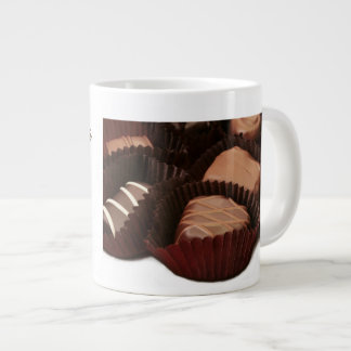 sentiment about chocolate with chocolates image large coffee mug