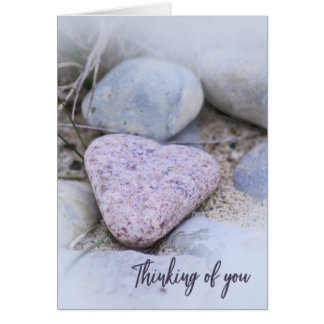 Sentimental Beach Stone Thinking of You Card