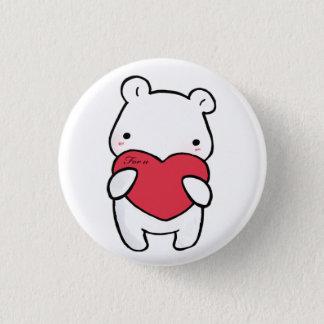 Sentimental polar bear 1 inch round button