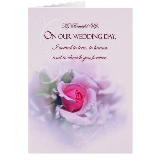 sentimental_wife_wedding_anniversary_pink_rose_card ...