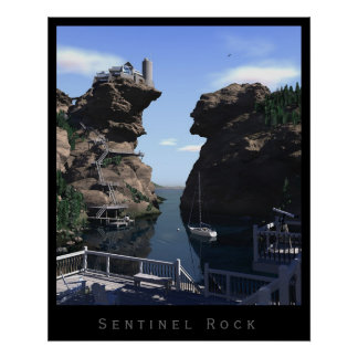 Sentinel Rock Poster