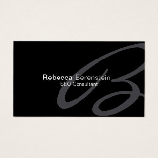 SEO Consultant Business Card Fancy Monogram