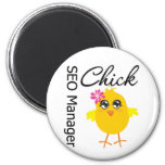 SEO Manager Chick 2 Inch Round Magnet
