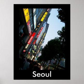Seoul at Dusk Print