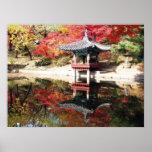 Seoul Autumn Japanese Garden Poster