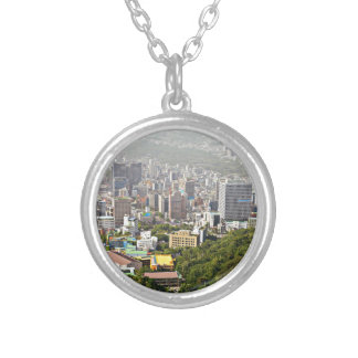 Seoul From Above Round Pendant Necklace