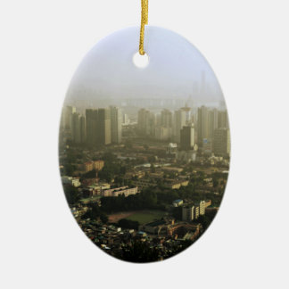 Seoul From Above Urban Photo Ceramic Ornament