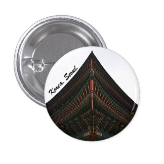 seoul korea photography 1 inch round button