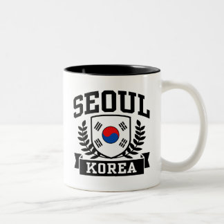 Seoul Korea Two-Tone Coffee Mug