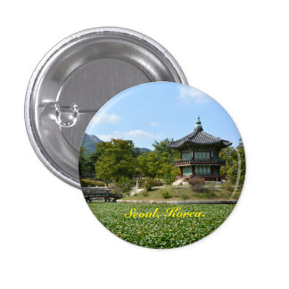 seoul south korea 1 inch round button