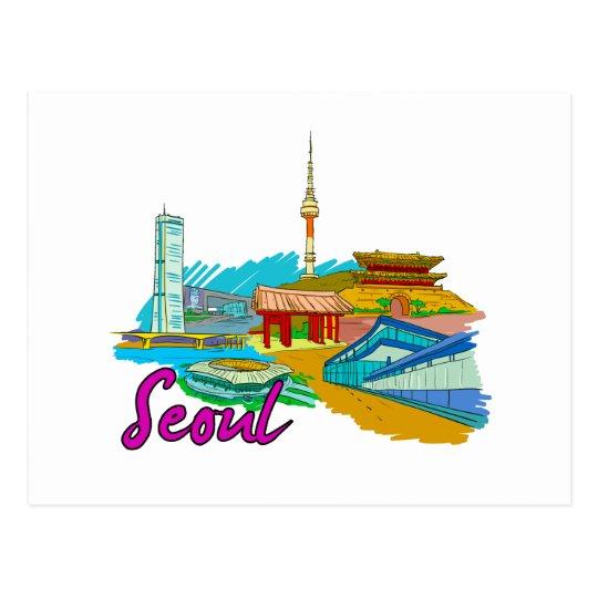 Seoul - South Korea.png Postcard