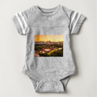 Seoul South Korea Skyline Baby Bodysuit
