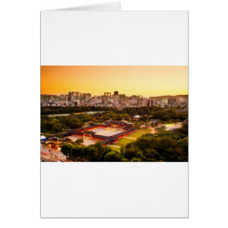 Seoul South Korea Skyline Card