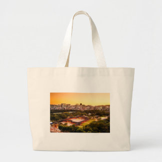 Seoul South Korea Skyline Large Tote Bag
