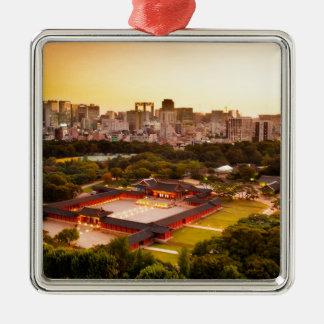 Seoul South Korea Skyline Metal Ornament