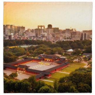 Seoul South Korea Skyline Napkin