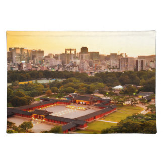 Seoul South Korea Skyline Placemat