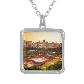 Seoul South Korea Skyline Silver Plated Necklace